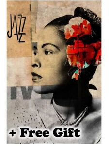 "Billie Holiday Poster 24"" x 36"""
