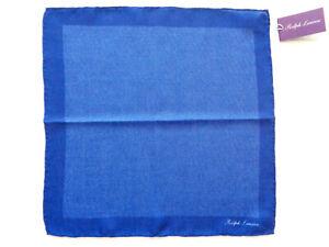New Ralph Lauren Purple Label Italy 100% Cashmere Royal Navy Pocket Square