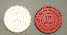 TWO 1950-60s BLANTYRE CO-OP SOCIETY MILK TOKENS CHEQUES - GLASGOW, SCOTLAND