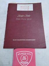 Kay Electric Co Model 175-A & 403-A Mega Node Manual