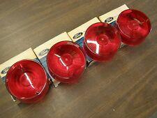 NOS OEM Ford 1962 Mercury Comet Tail Light Lenses Lens Set 4 Pieces