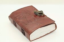 DRAGON LEATHER JOURNAL HANDMADE BLANK BOOK OF SHADOWS W/ LOCK Wicca Small diary