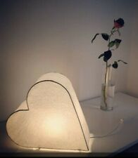 "Beautiful Ambient Ikea Strala Heart Light Lamp Stand Alone 30cm / 12"" White COSY"