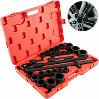 Impact Socket Set Impact Sockets 27 Pieces SAE 7/8-2 Inches and Metric 22-50 MM