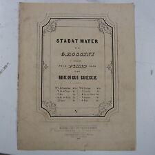 Salon piano Henri Herz-Rossini Stabat Mater; air de ténor, 6 pages