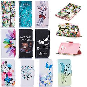 10pcs/lot Painted Wallet PU Leather Case for Samsung/Google/LG/Apple/Motorola