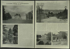 Landscaping A University Exeter Sir William Holford 1959 2 Page Photo Article
