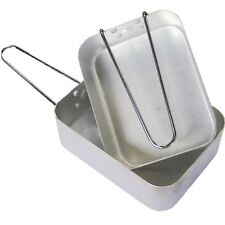 CAMPING X2 MESS TINS HIGH QUALITY BILLIE CANS ALUMINIUM COOKING PANS ARMY CADET