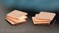 6 Kupferplättchen 1,2mm Kupferpad Wärmeleiter CPU Wärmeleitplättchen Wärme Pad