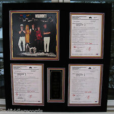 THE B-52's-Autographed 28 x 29 Contract & Photo Display with 3 PSA DNA COA's