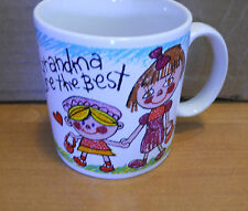 Cute Grandma You're The Best Coffee Mug Kid's Coloring Picture Applause 1988