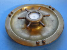 BRASS ASHTRAY with SHOWAY TAYLOR COMPASS
