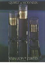 PUBLICITE ADVERTISING 1980    MOLYNEUX parfum  eau de parfum QUARTZ