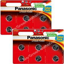12 x Panasonic CR2032 3V Lithium Coin Cell Battery 2032