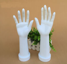 New 1 Pair Mannequin Hand Arm Display Base Female Gloves Jewelry Model White