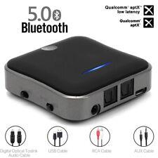 HIFI Bluetooth 5.0 Transmitter Receiver Stereo aptX HD Low Latency Audio Adapter