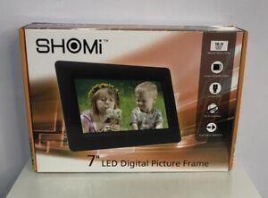 "Shomi LED Digital (SD MMC SDHC) Photo  Viewer 7"" Widescreen Display Frame NEW!"