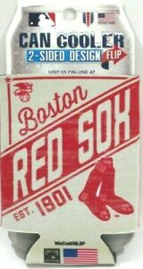 MLB Boston Red Sox Can Cooler Koozie 2 Sided Graphic Design 1/8' Insulated 12oz