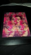 World Party Is It Like Today? Rare Original Radio Promo Poster Ad Framed!