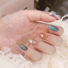 Gradient Press On Nails Wearable Manicure False Nail Art Elegant Accessory 24pcs