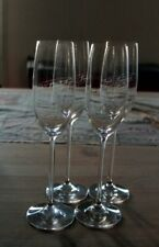 SET OF 4 VEUVE CLICQUOT FRENCH CHAMPAGNE FLUTES GLASSES SIGNATURE