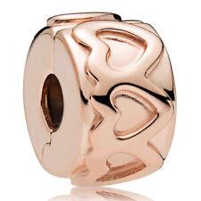 PANDORA ROSE Charm Clip Element 781978 Herzen Bead