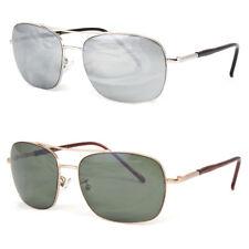 Classic Retro Mens Fashion Metal Aviator's Vintage Designer Silver Sunglasses