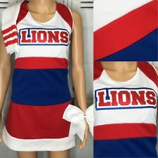 """Cheerleading Uniform High School Lions Top 34"""" Chest Skirt 28"""" Waist"""