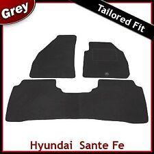 Hyundai Santa Fe Mk1 2001-2006 a medida Alfombras coche Tapetes Gris