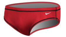 NIKE Swim Men's Core Solid Water Polo Brief Red Size 32 TDSS0039