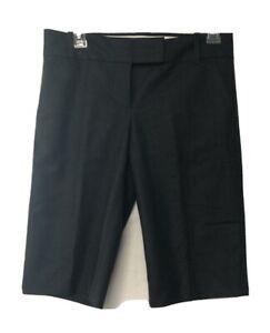 J Crew Women's City Fit Gray Wool Blend Bermuda Shorts Size 0