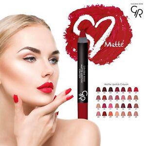 Golden Rose Matte Lipstick Crayon High Coverage Long-Lasting Vitamin E Moisture