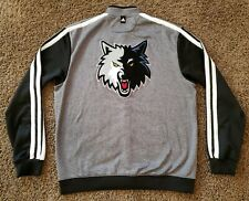 "adidas Minnesota Timberwolves Team Issued Warm Up Jacket Size 3XL +2"" Length"