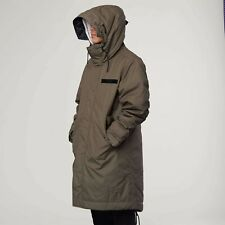 Nike Sportswear NSW Parka Jacket Fishtail Long Olive Men's Sz XXL AA8859-380
