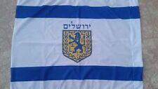 Jerusalem  Flag 44x32 inch Big Size From Israeli  A Most Judaica Item NEW