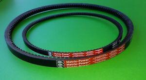 "8"" Lagler Hummel Floor Sanding Sander Metric Drum Belt & Fan V-Belts P186 & P187"