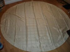 "70"" Round Tablecloths Cream, Polyester Tasselled With Satin Border"