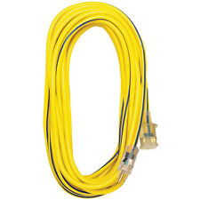 Pro Glo, 100 ft Extension Cord, Type 12/3, Yellow, Contractor-Grade