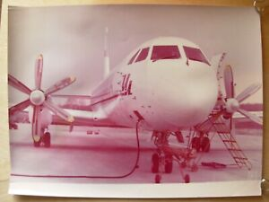 Original Soviet Russian Vintage Photo IL Aeroflot USSR Airlines plane aircraft