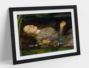 JOHN EVERETT MILLAIS, OPHELIA (CLOSE UP)-ART FRAMED POSTER PICTURE PRINT ARTWORK