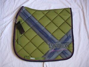ESKADRON Dressur Schabracke DL Next Generation Dark-Lime grün Full  WB Full NEU