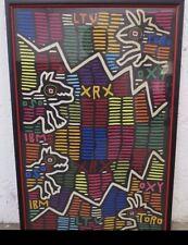 Mola Cuna Kuna Textile Art Framed Vintage Panama Mid Century