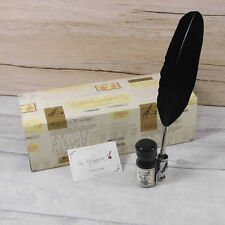 Calligraphy Set, Small Black Feather Quill & Ink Set, Great Gift (2227BK)