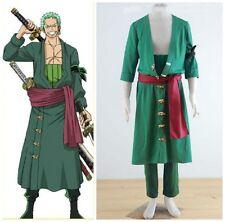 One Piece RORONOA ZORO II Green Anime Cosplay Costume UK