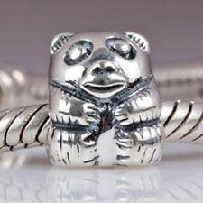Panda Bear Charm Bead 925 Sterling Silver