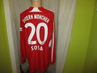FC Bayern München Adidas Langarm Matchworn Trikot 2007/08 + Nr.20 Sosa Gr.XL