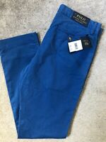 "RALPH LAUREN POLO BLUE PS CLASSICS SLIM CHINOS TROUSERS PANTS - 31"" - NEW TAGS"