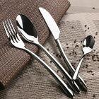 Stainless Steel 4pcs Dinnerware Set Fork Knife Spoon Western Food Steak Table TH