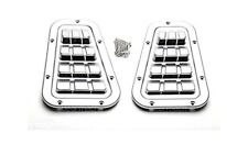 LAND ROVER DEFENDER 90 110 130 MODELS WING TOP VENTS PAIR ZAMBEZI SILVER BA9461