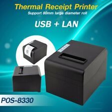 STAMPANTE TERMICA 80MM USB LAN POS 8330 RISTORANTE SCONTRINI RICEVUTE.